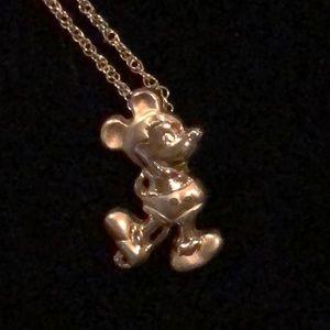 Disney Mickey Mouse 14K GF Pendant Necklace
